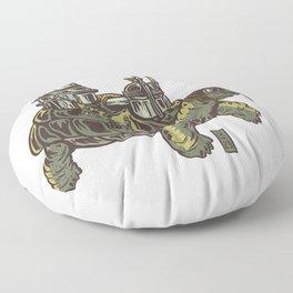 Steampunk Turtle Floor Pillow