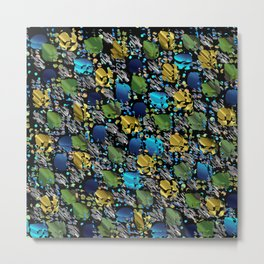 elegant modern pattern with dots circling shiny colored chick glittery Metal Print