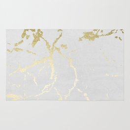 Kintsugi Ceramic Gold on Lunar Gray Rug