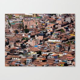 Rooftops of Peru Canvas Print
