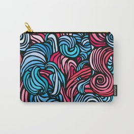 Swirl Design -- Pink & Blue Carry-All Pouch