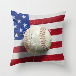 Baseball - New York, New York Throw Pillow