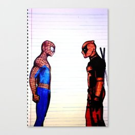 Red and Blue SpiderPool Canvas Print