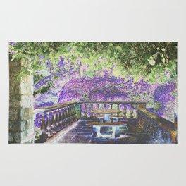 Lavender English Garden Rug