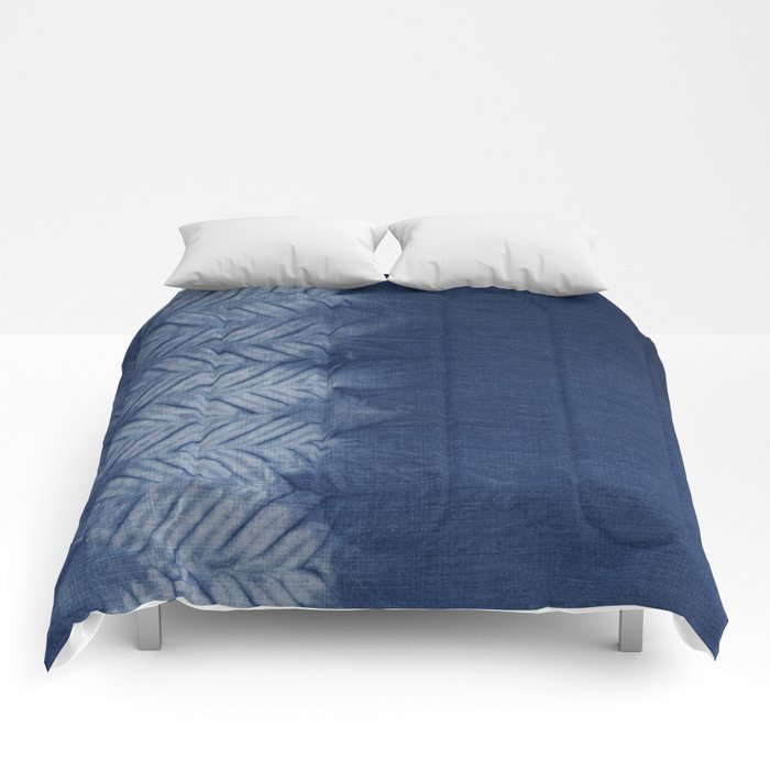 Shibori Chevron Stripe Comforters