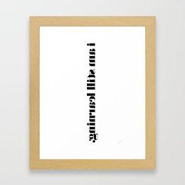 I Am Still Learning. Framed Art Print