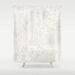 DC NYC London - Cream Shower Curtain