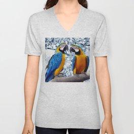 Macaws chatting Unisex V-Neck