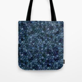 Blue Lagoon Midnight Rippled Water Abstract Tote Bag