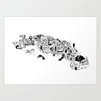 cuba Art Prints featuring CUBA by gabriel