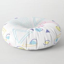 CUTE 80S INSPIRED GEOMETRIC PATTERN Floor Pillow