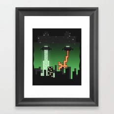 Suprise Arrival From An Unknown Planet! Framed Art Print