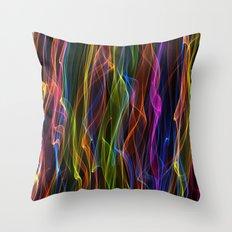 Multi-colour smoke. Throw Pillow
