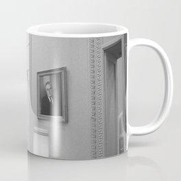 LBJ Looking At FDR Coffee Mug