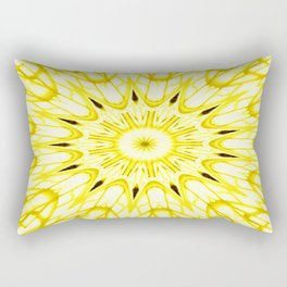 the sun : Yellow Mandela Explosion Rectangular Pillow