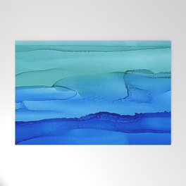 Alcohol Ink Seascape Welcome Mat