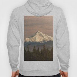 Mount Hood Vintage Sunset - Nature Landscape Photography Hoody