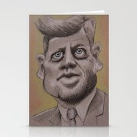 jfk Stationery Cards featuring JFK by chadizms