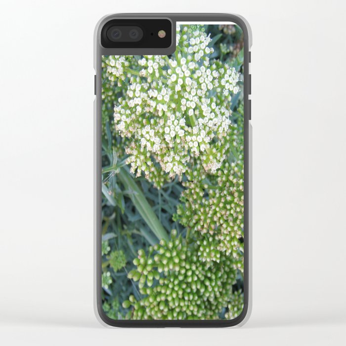 green wild flowers Clear iPhone Case