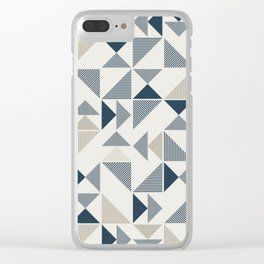 Abstract Geometric Triangle Pattern Clear iPhone Case