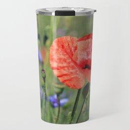 poppy flower no16 Travel Mug