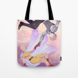 Fem!Saitama and Genos Tote Bag