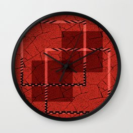 Abstract grunge background. Wall Clock
