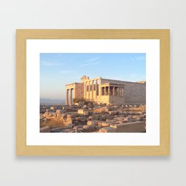 The Acropolis in Athens, Greece Framed Art Print