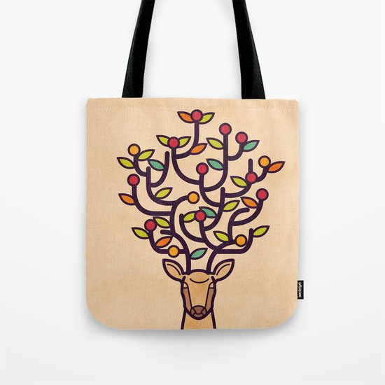 One Happy Deer Tote Bag