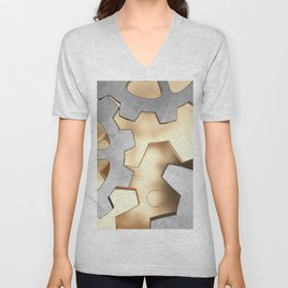 Abstract with the gears Unisex V-Neck