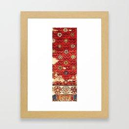 Konya Anatolian 18th Century Rug Fragment Print Framed Art Print