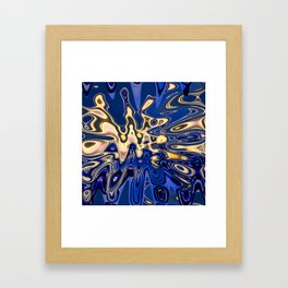 Torches in the Cenote Framed Art Print
