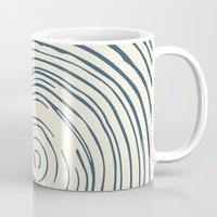 tree rings Mugs featuring Tree Rings by Chase