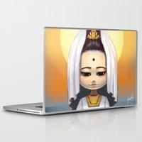 budi satria kwan Laptop & iPad Skins featuring Kwan Yin  by Lurraeh Somohano