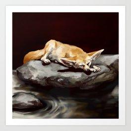 Sleeping ears Art Print