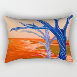 """Wind Whispers & Wave Lullabies"" Rectangular Pillow"