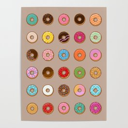Colorful Doughnuts Poster