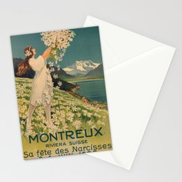 Affiche montreux. 1922  Stationery Cards