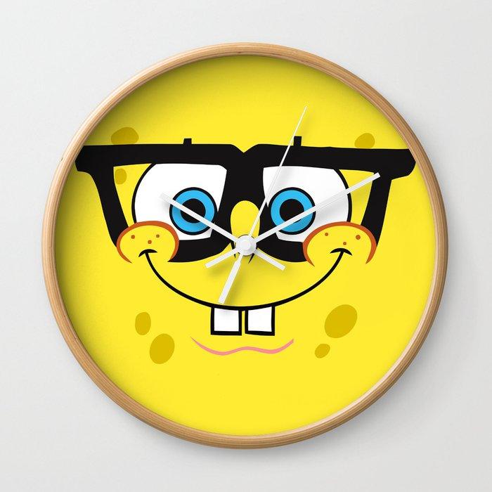 Spongebob Nerd Face Wall Clock