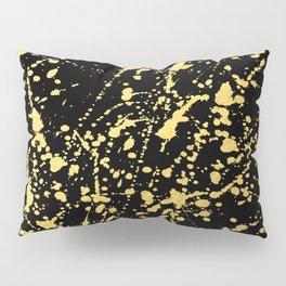 Splat Gold on Black Pillow Sham