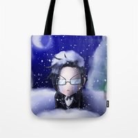 kuroshitsuji Tote Bags featuring If You're Cold, They're Cold by Falln