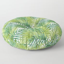 Paradise in Hawaiian Palm Tree Leaves Floor Pillow