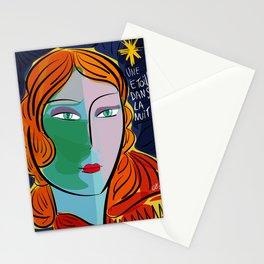 Une étoile dans la nuit French Pop Girl Art Decoration Stationery Cards