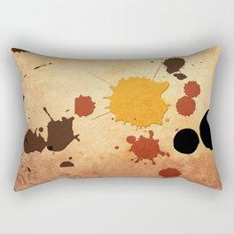Abstract Indian Yellow Splash Rectangular Pillow