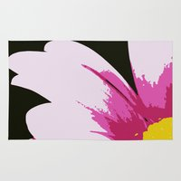 mod Area & Throw Rugs featuring Mod Daisy by Nadia Bonello - Trū Artwear