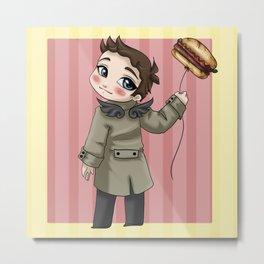 Castiel Loves Hamburgers Metal Print