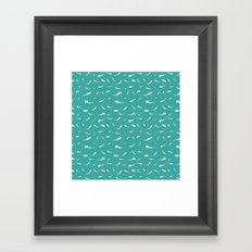 Thresher Sharks Pattern Framed Art Print