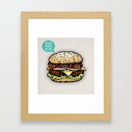Epic Burger Framed Art Print