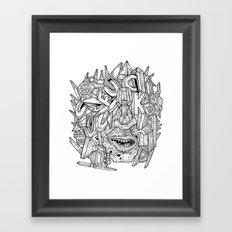 Geometric Mutations: FU*K Framed Art Print