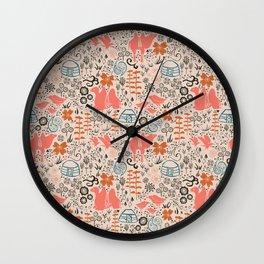Mongolian Expanse Pattern Wall Clock
